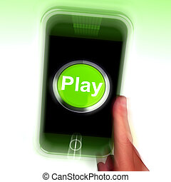 Play Mobile Shows Internet Recreation And Entertainment