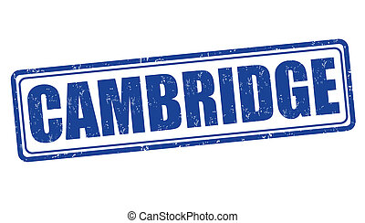 Cambridge stamp - Cambridge grunge rubber stamp on white,...