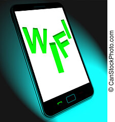 Wifi On Mobile Shows Internet Hotspot Wi-fi Access Or Connection