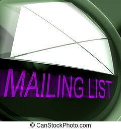 Mailing List Postage Means Contacts Or Email Database -...