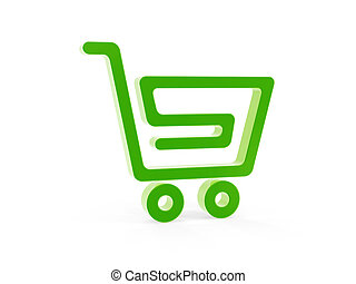 shopping cart symbol stand on white background