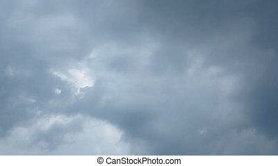 Storm. Sky with stormy clouds - Sky background with storm...