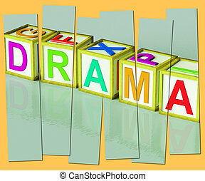 Drama Word Show Roleplay Theatre Or Production - Drama Word...