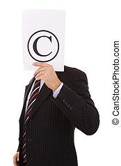 copyright, uomo affari