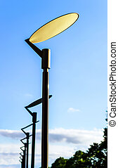 Modern style street lamp in Alsace, Mont-Sainte-Odile,...