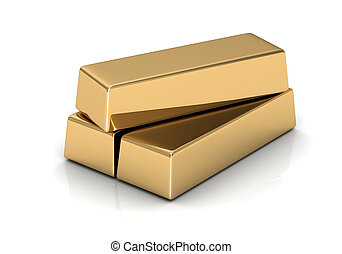 gold bars high resolution 3D image