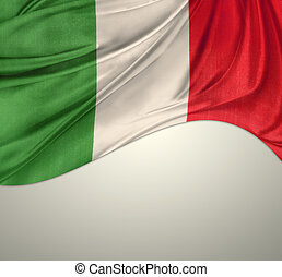 Flag - Italian flag on plain background
