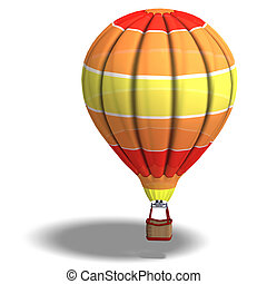 colorful balloon - Rendering of a colorful balloon with...
