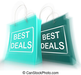 Best Deals Shopping Bags Represent Bargains and Discounts