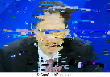 Digital television noise - Television screen with static...