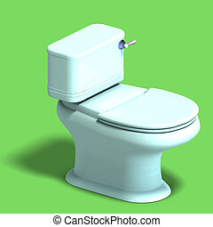 white toilet - 3D rendering of a white wc with shadow and...