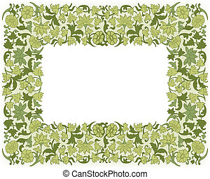 Save the Date Floral Card. Border Frame . - Save the date...