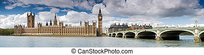 XXXL - Houses of Parliament, London. - Panoramic picture of...
