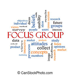 Focus Group Word Cloud Concept with great terms such as...