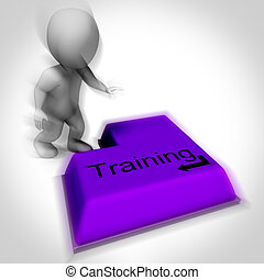 Training Keyboard Shows Induction Education Or Course
