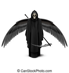 Two-winged angel of death - Angel of death with two wings...