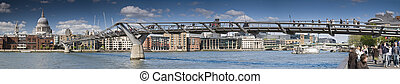 St Paul\'s Cathedral and Millennium Bridge.