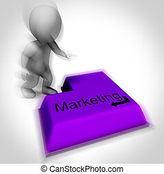 Marketing Keyboard Shows Promotion Advertising And PR -...