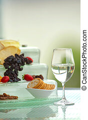 Wine and Cheese Table - A wine and cheese table with...