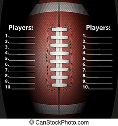 Dark Background of American Football ball Vector...