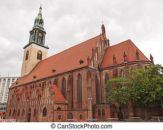 Marienkirche in Berlin - Marienkirche St Mary church in...