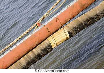 pipes on the surface of water