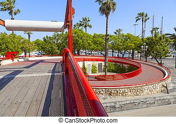calle, rojo,  Barcelona