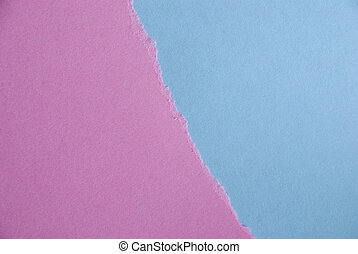 Blue and Pink Paper Background out of two Pieces of Paper