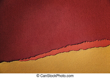 Old Paper Texture as Red, Orange and Yellow Background