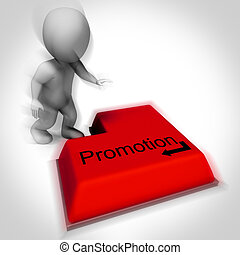 Promotion Keyboard Shows Higher And Better Job Position -...