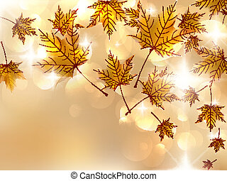 Autumn leaves, very shallow focus. EPS10