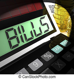 Bills Calculated Means Invoices Payable And Owing - Bills...