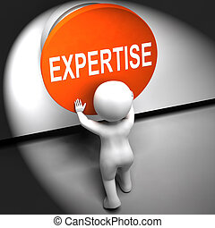 Expertise Pressed Means Skilled Specialist And Proficiency -...
