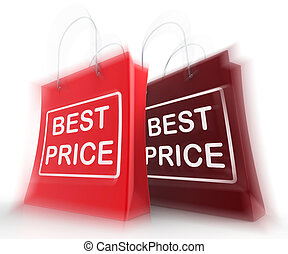 Best Price Shopping Bags Represent Discounts and Bargains