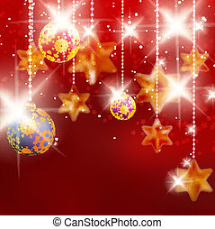Christmas background with baubles EPS10