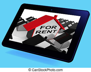 For Rent House Tablet Means Leasing To Tenants - For Rent...