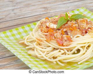 espaguete, estilo, antigas,  retro, vindima
