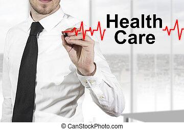 心跳, 醫生, 健康, 圖畫, 關心