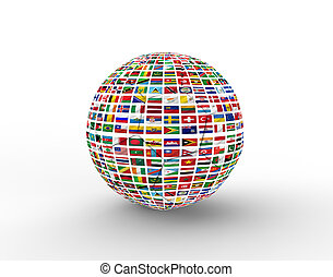soccer ball with flag