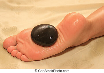 Foot stone massage