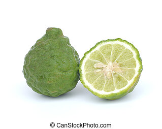 Bergamot isolated white background