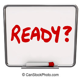 Ready Word Dry Erase Board Prepared Question Readiness...
