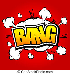 Bang Comic Speech Bubble - Comic Speech Bubble, Cartoon...