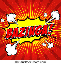 Bazinga Comic Speech Bubble - Comic Speech Bubble, Cartoon...