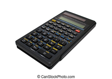 Engineering calculator isolated - Gray engineering...