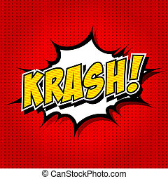 krash - Comic Speech Bubble - Comic Speech Bubble, Cartoon...