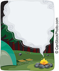 Bonfire Background - Background Illustration Featuring a...