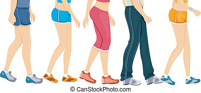 Workout Border - Cropped Border Illustration Featuring...