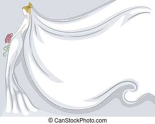 Bridal Veil Background - Background Illustration Featuring a...