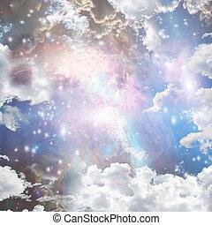 Bright Nebula, gas and stars